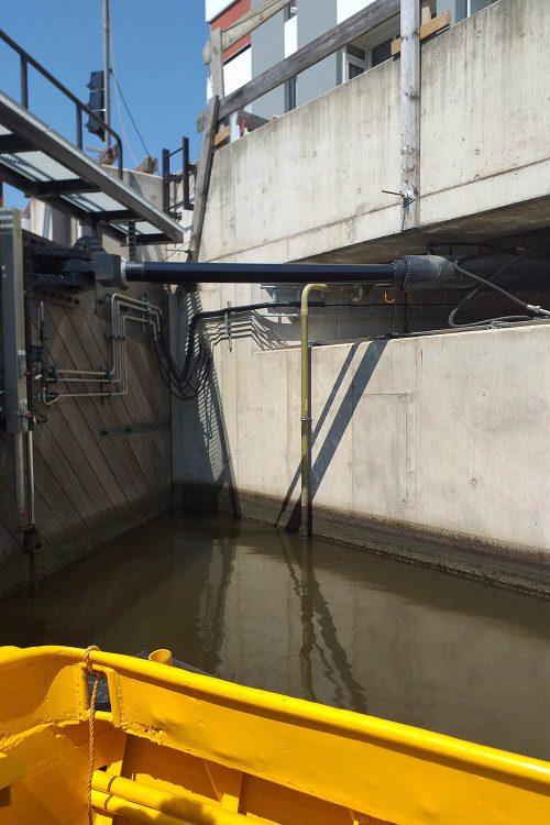 hydraulische installatie, aandrijving, sluis
